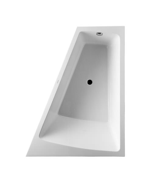 Duravit Paiova 1700 x 1300mm Right-Left Backrest Slope Bath With Panel And Frame