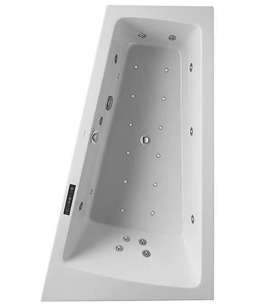 Duravit Paiova 1700 x 1000mm Built In Right Slope Bath With Combi System L