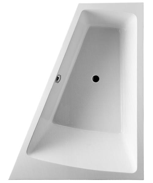 Duravit Paiova 1800 x 1400mm Right-Left Built In Backrest Slope Bath