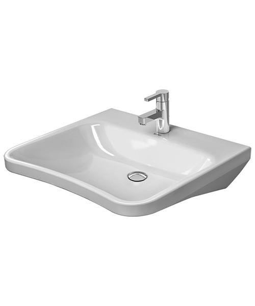 Duravit DuraStyle 650 x 570mm 1 Taphole Washbasin Med
