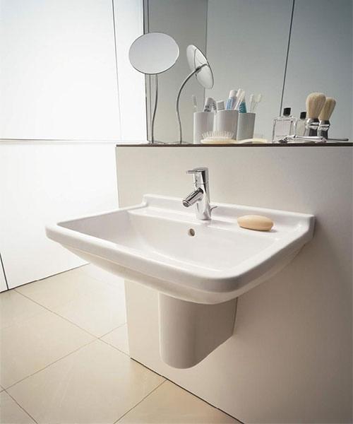 Alternate image of Duravit Starck 3 1 TH Underneath Glazed Washbasin With Overflow