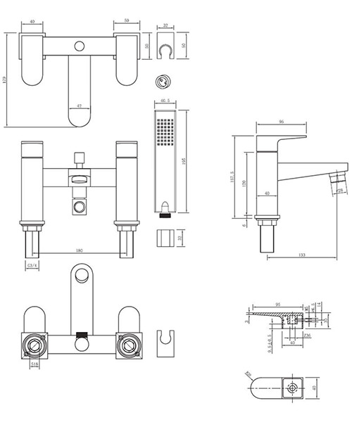 Technical drawing 13016 / MO422DC