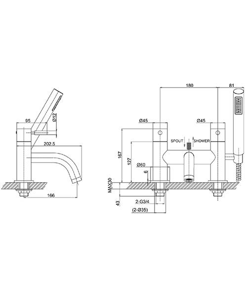 Technical drawing 13359 / DE422DC