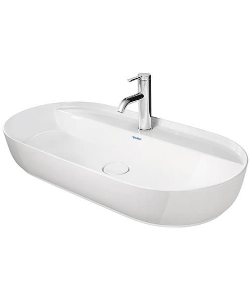 Duravit Luv 800 x 400mm Ground Wash Bowl With Tap Platform