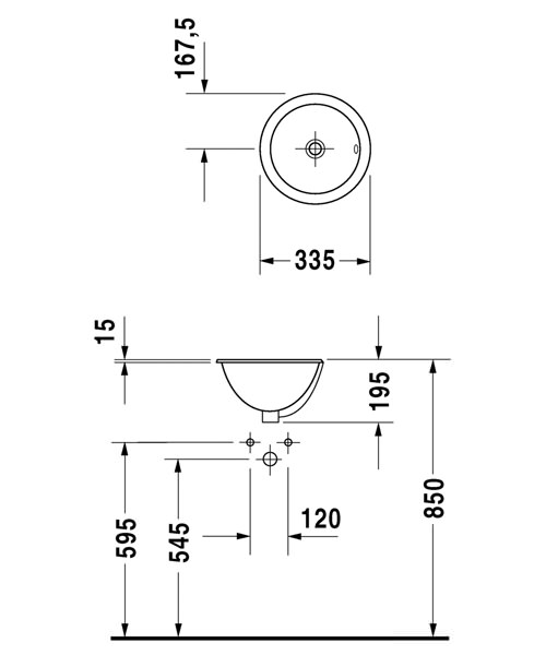 Technical drawing 4439 / 0473340031