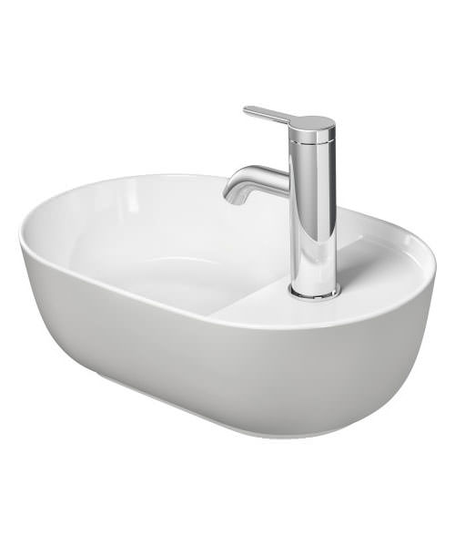 Additional image of Duravit Luv 420 x 270mm Ground Wash Bowl With Tap Platform