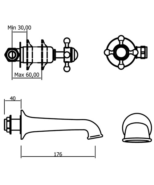 Technical drawing 33288 / BL0370WC