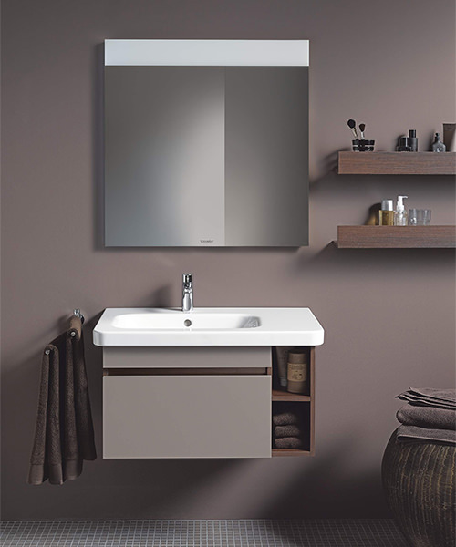 Additional image of Duravit DuraStyle 800 x 480mm Asymmetric Left Bowl Furniture Basin