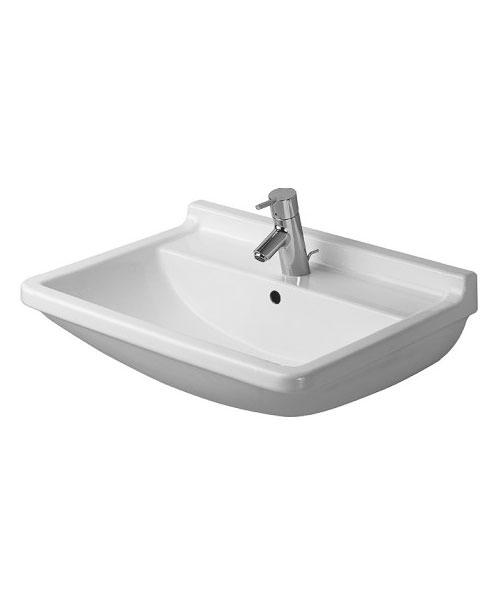 Duravit Starck 3 1 TH Underneath Glazed Washbasin With Overflow