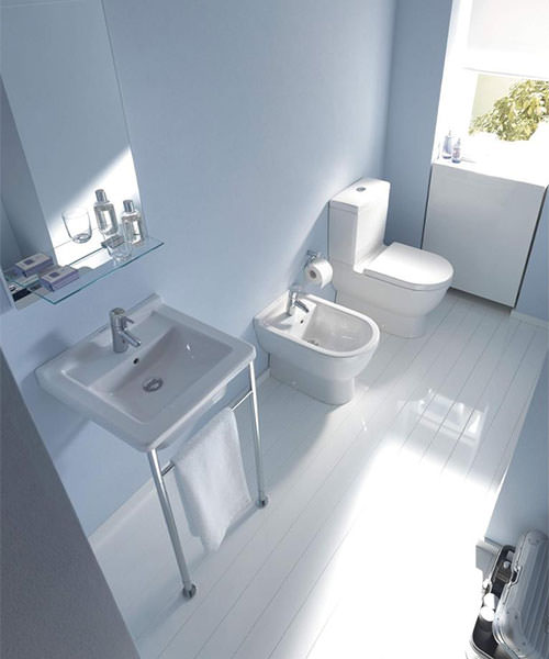 Additional image of Duravit Starck 3 1 Taphole 480mm Wide Washbasin