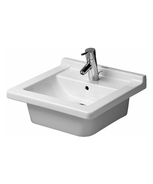 Duravit Starck 3 1 Taphole 480mm Wide Washbasin