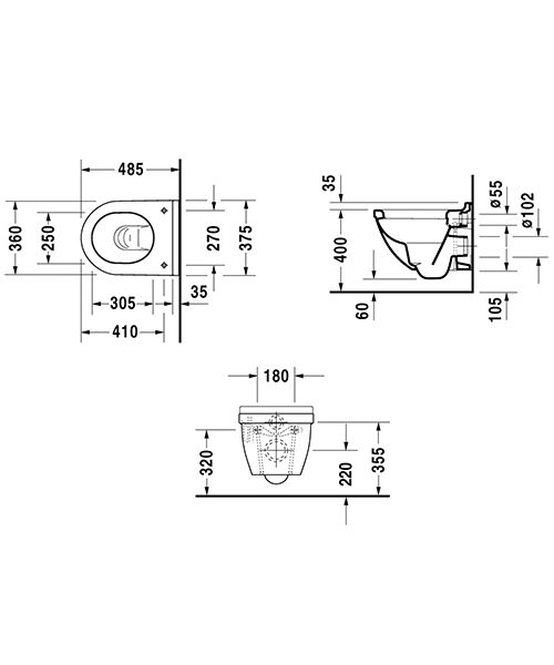 Technical drawing 6866 / 2227090000