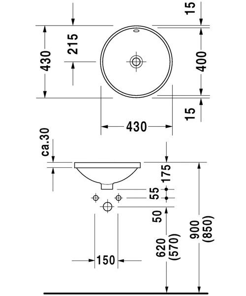 Technical drawing 4444 / 0468400022