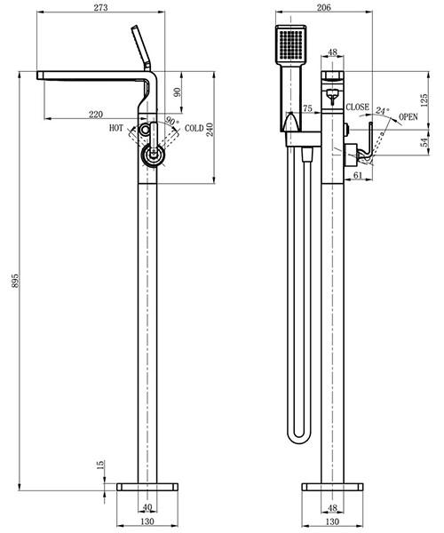 Technical drawing 36451 / KH01_415FC