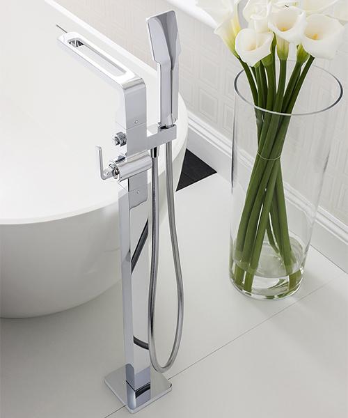 Additional image of Crosswater Kelly Hoppen Zero 1 Floor Standing Bath Shower Mixer Tap With Kit