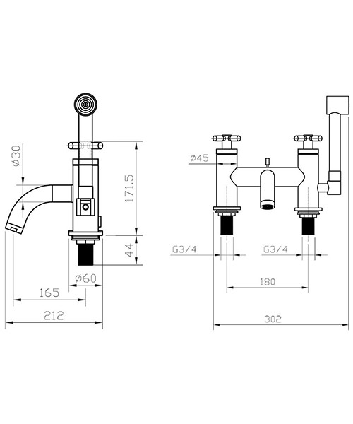 Technical drawing 13282 / TO422DC