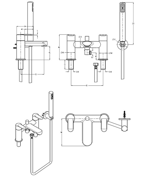 Technical drawing 13392 / VO422DC