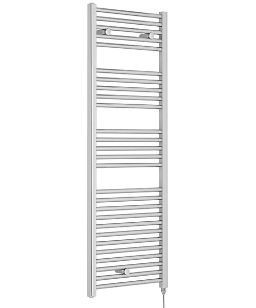 Nuie Premier Straight 480 x 1375mm Chrome Heated Electric Towel Rail