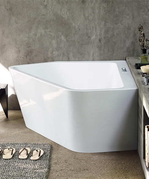Additional image of Duravit Paiova 1770 x 1300mm 5 Corner Left Built In Bath With Frame