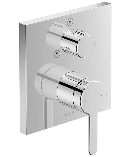 Duravit C.1 Square Concealed Manual Shower Mixer Valve With Diverter