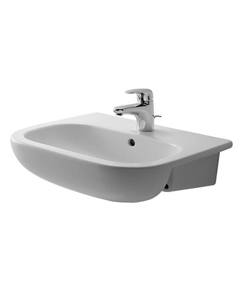 Duravit D-Code Semi-Recessed Washbasin 550mm