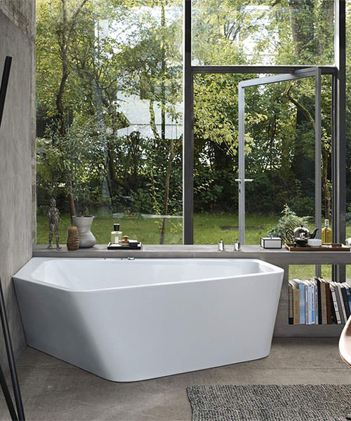 Alternate image of Duravit Paiova 5 Corner Bath With Panel And Support Frame