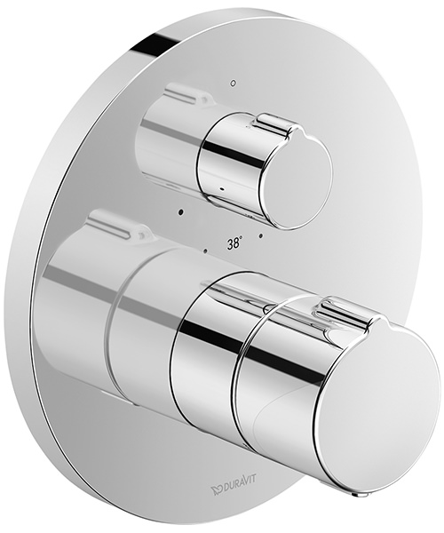 Duravit C.1 Round Thermostatic 1 Outlet Shower Mixer With Shut-Off Valve
