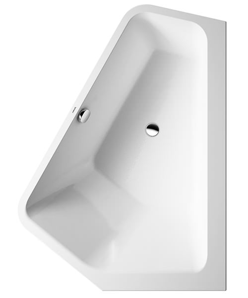 Duravit Paiova 1770 x 1300mm 5 Corner Right Built In Bath With Frame
