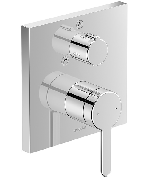 Duravit C.1 Square Concealed Manual Bath Mixer Valve With Diverter