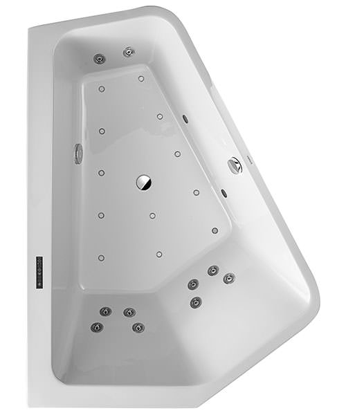 Duravit Paiova 1900mm 5 Corner Left Bath With Panel And Combi System L