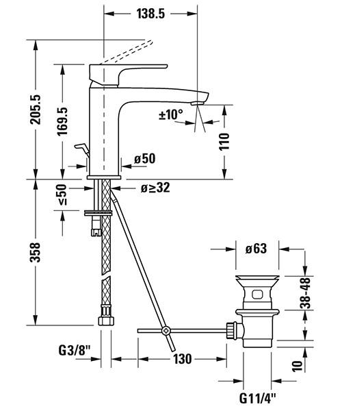Technical drawing 54133 / B11020001010