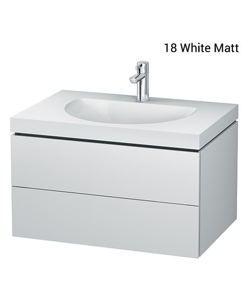 Duravit L-Cube 800mm Double Drawer Vanity Unit With C-Bonded Washbasin