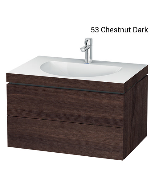 Alternate image of Duravit L-Cube 800mm Double Drawer Vanity Unit With C-Bonded Washbasin