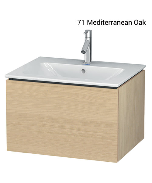 Alternate image of Duravit L-Cube 620mm Wall Mounted Vanity Unit With Me By Starck Basin