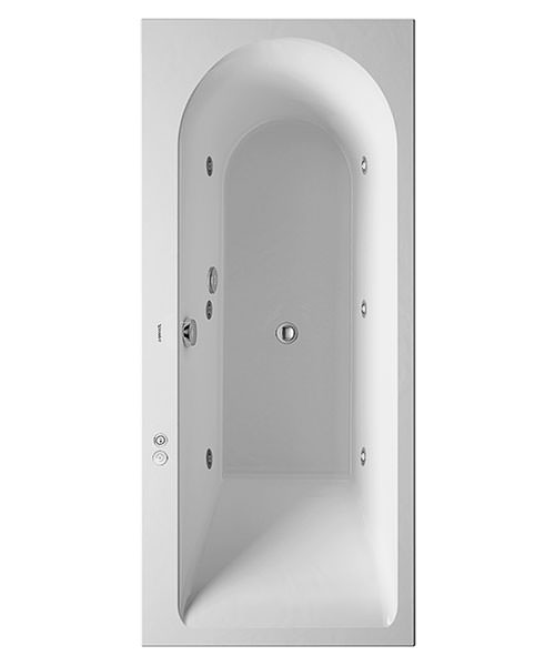 Duravit Darling New 1600 x 700mm Bath With Right Slope And Jet-System