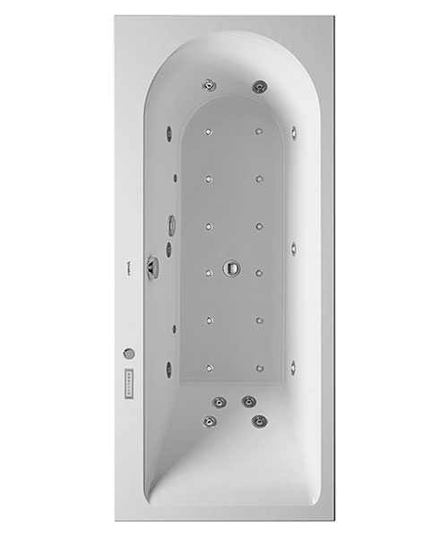 Duravit Darling New 1600 x 700mm Bath With Right Slope And Combi-System E