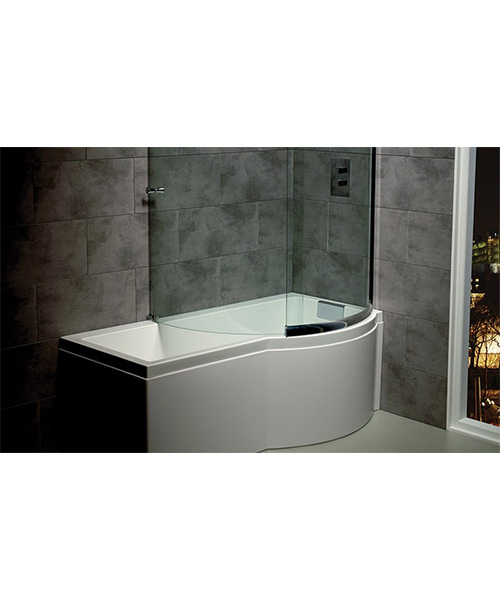 Additional image of Carron Celsius 1700 x 750-900mm Carronite Left Hand Shower Bath