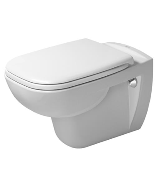 Duravit D-Code 355 x 545mm Wall Mounted Rimless Toilet