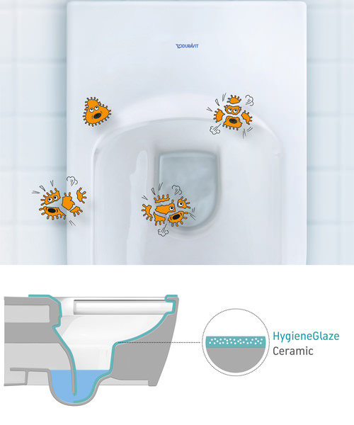 Additional image of Duravit Happy D.2 365 x 630mm Close Coupled WC With Dual Flush Cistern