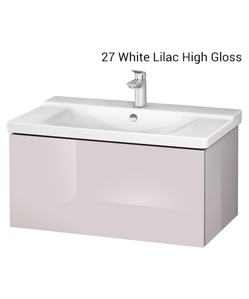 Alternate image of Duravit L-Cube 820 x 481mm 1 Drawer Wall Mounted Vanity Unit