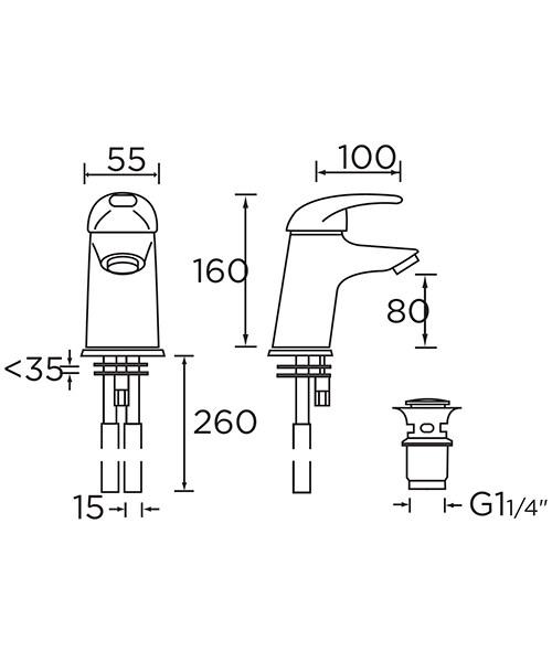 Technical drawing 1020 / J BAS C