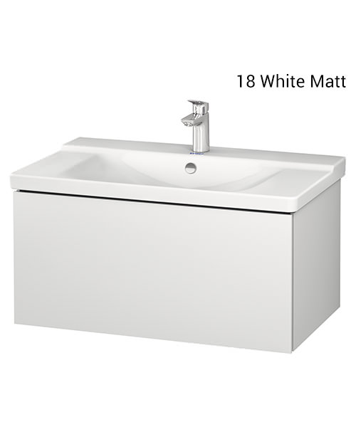 Duravit L-Cube 820 x 481mm 1 Drawer Wall Mounted Vanity Unit