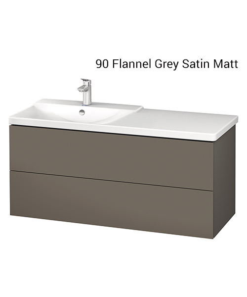 Alternate image of Duravit L-Cube 1220mm Vanity Unit With P3 Comforts Basin - Bowl On Left