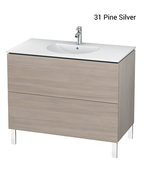 Additional image of Duravit L-Cube 1020mm Vanity Unit With Darling New Basin