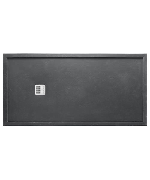 Additional image of Roca Terran 1000 x 800 x 36mm Superslim Stonex Shower Tray With Frame