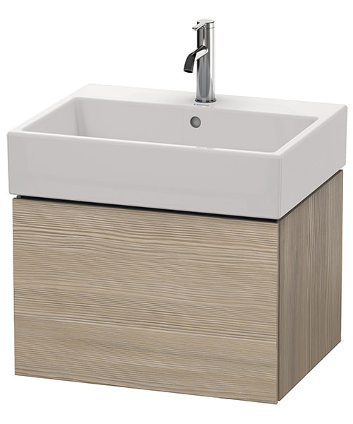 Additional image of Duravit L-Cube 584mm Single Drawer Vanity Unit With Vero Air Basin