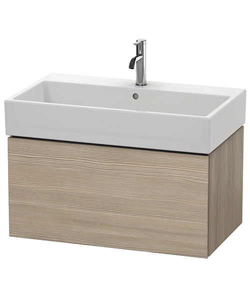 Additional image of Duravit L-Cube 784mm Single Drawer Vanity Unit With Vero Air Basin