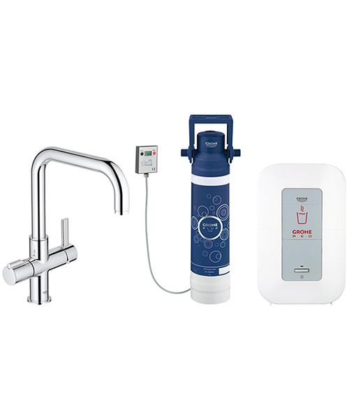 Grohe Red Duo Chrome U-Spout Faucet And Single-Boiler 3 Litres