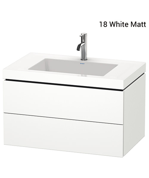 Duravit L-Cube 800mm 2 Drawer Vanity Unit With C-Bonded Basin
