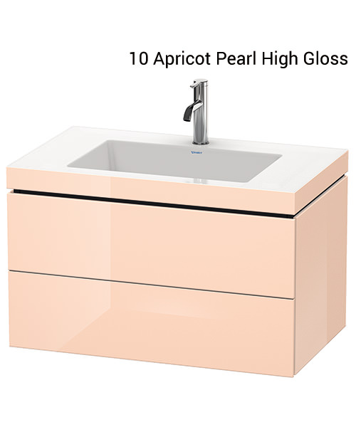 Alternate image of Duravit L-Cube 800mm 2 Drawer Vanity Unit With C-Bonded Basin